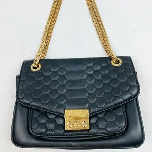 Bebe Quilted Chain Shoulder Bag